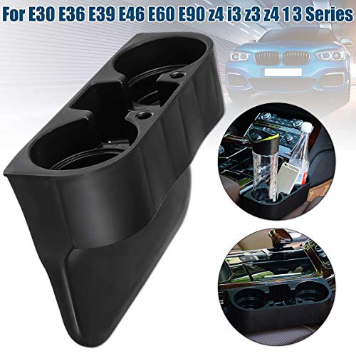 Sala-Store - For BMW e30 e36 e39 e46 e60 e90 z4 i3 z3 z4 1 3 series Car Black Front Drinks Cup Holder Car Front Center Console Cup Rack
