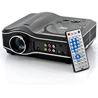elegantstunning 2100 Lumens DVD Projector with DVD Player Video Game Projector Beamer 400:1 Contrast White Border Remote Control