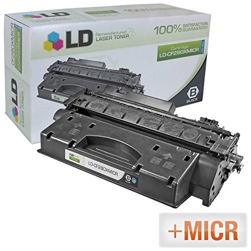 LD Compatible Toner Cartridge Replacement for HP 80X CF280X MICR High Yield (Black)