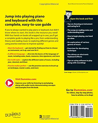 Piano And Keyboard All In One For Dummies For Dummies Series