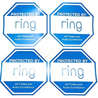 4 - Ring Doorbell Security Sticker Decals - Double-Sided Authentic