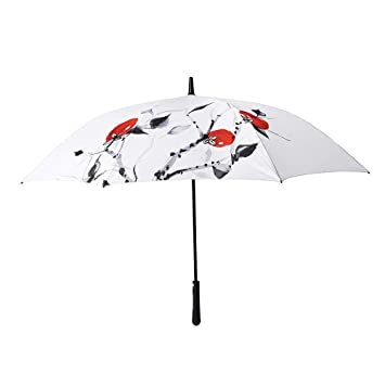 Hongge Golf Paraguas de Mango Largo Varilla Recta Paraguas Super Grandes Empresas Paraguas