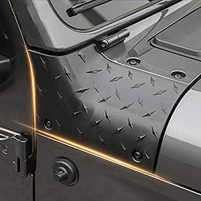 RT-TCZ Cowl Body Armor Jeep Outer Cowl Covers Corner Guards JL Exterior Accessories Parts Textured Black Pair for 2020 2020 Jeep Wrangler JL Sahara Sport Sports Rubicon & Moab: Automotive