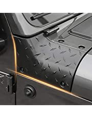 RT-TCZ Black Cowl Body Armor Outer Cowling Cover for 2018 2019 Jeep Wrangler JL Sport Sport S Rubicon Sahara Off Road Sport Exterior Accessories Part