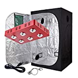 Oppolite Grow Tent Kit Complete Package LED 1200W Full Spectrum LED Grow Light + 48″X48″X80″ Grow Tent Dark Room Indoor Hydroponic System Kit (LED 1200W COB Light, 48″X48″X80″W/Window) Review