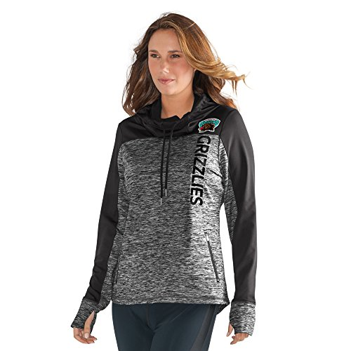 GIII For Her NBA Vancouver Grizzlies Women's Sideline Pullover Hoody, Medium, Heather Grey by GIII For Her