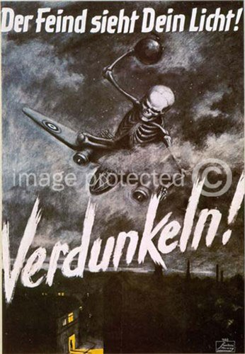 Der Feind Sieht Dein Licht German World War Two Poster Art 24x36
