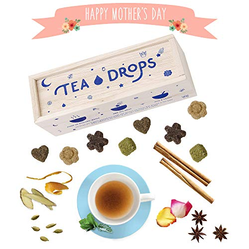 (Tea Drops Instant Organic Pressed Teas | Medium Herbal Tea Sampler Assortment Box | Eliminates the Need for Teabags and Sweetener Packets | Great Gift for Tea Lovers | Delicious as Hot or Iced Tea)