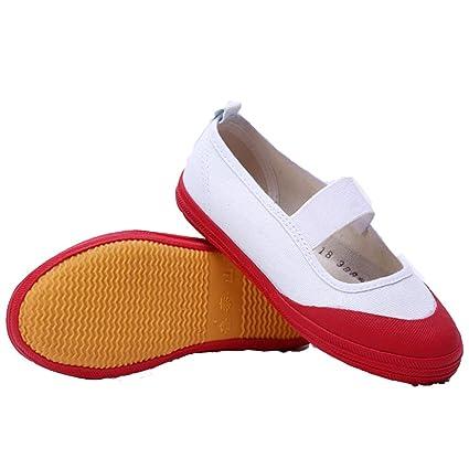 Gj Blancs Tête Bleue Danse Rouge Chaussures Gymnastique Toile lJ1FKTc