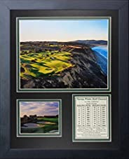 """Legends Never Die Torrey Pines Golf Course I Aerial Collage Photo Frame, 11"""""""