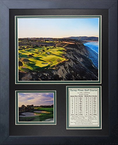 Famous Golf Photos - Legends Never Die Torrey Pines Golf Course I Aerial Collage Photo Frame, 11
