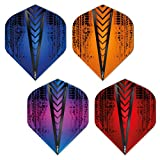 7. Red Dragon Hardcore Selection Pack Treads Extra Thick Standard Dart Flights - 4 Sets Per Pack (12 Dart Flights in Total)
