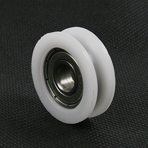 5x24x7mm ATOPLEE 4pcs Round Groove Nylon Pulley Wheels Roller for Slide Gate//Angle Bar//Drawers