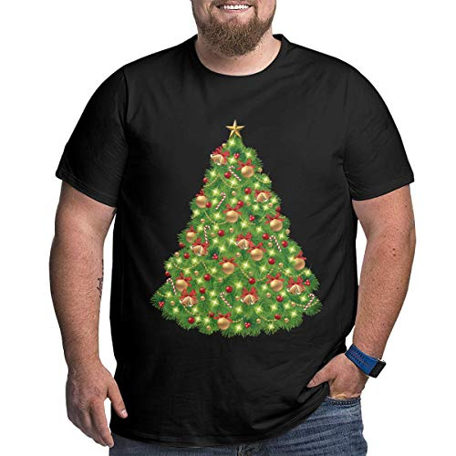 (Tkjlki0 Christmas Tree PNG Clipart - Best Web Clipart Men's Loose-Fit Short-Sleeve Crewneck T-Shirts (XL-6XL )