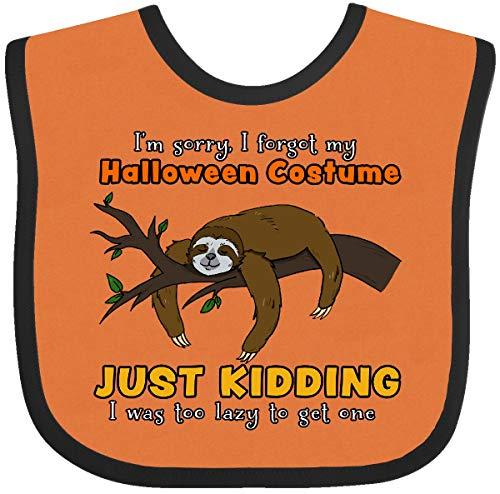 Inktastic - Lazy Sloth Halloween-I'm Sorry, I Forgot Baby Bib Orange and Black