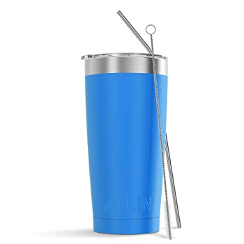 Atlin Sports 20 Oz Light Blue Reusable Coffee Cup