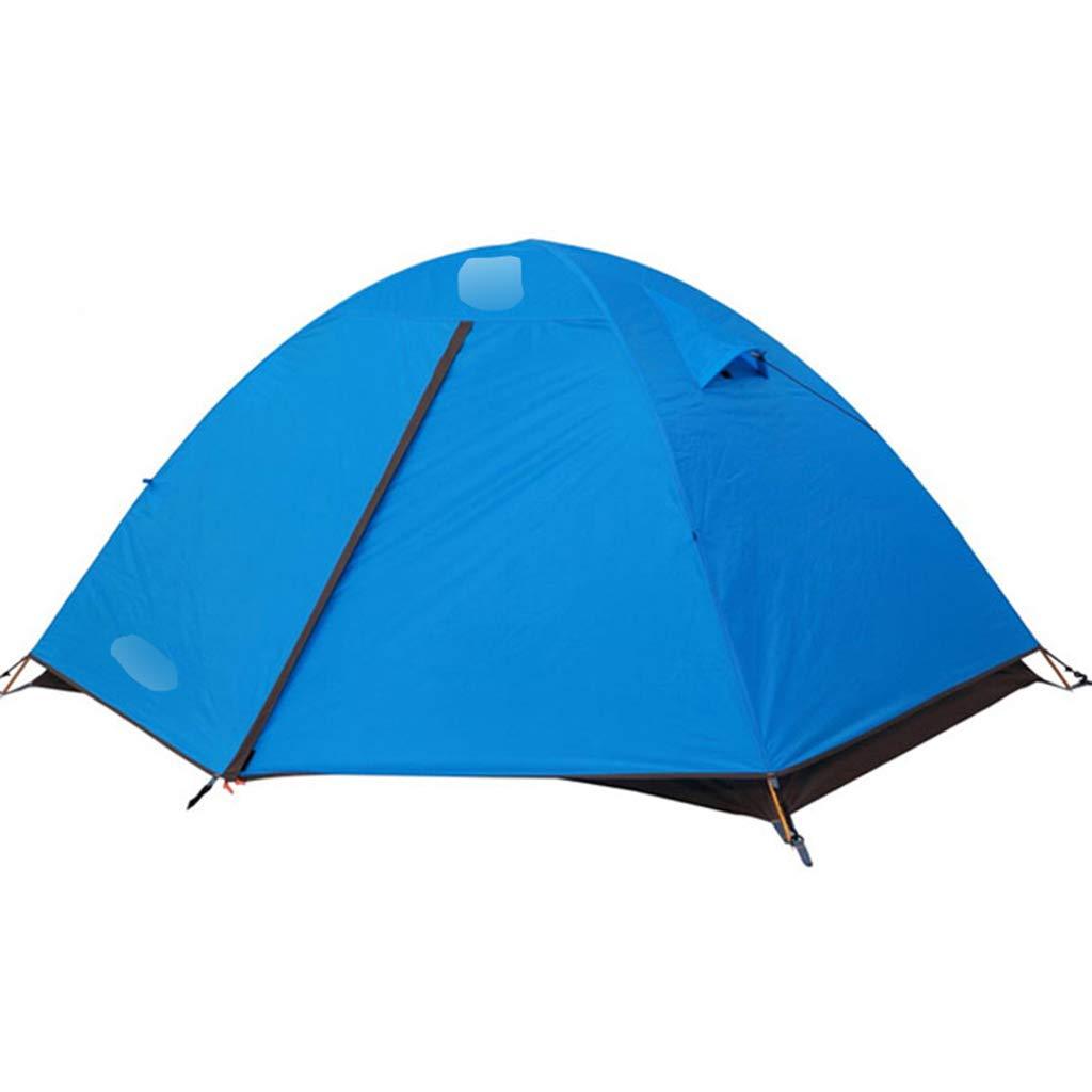 YaNanHome Imprägniern Zeltzeltaluminiumpfosten-Zelt im Freien doppeltes regendicht 3 Leute Anti-Moskitozelt Mehrfarbig wahlweise freigestellt (Farbe   Blau, Größe   210  180  115cm)