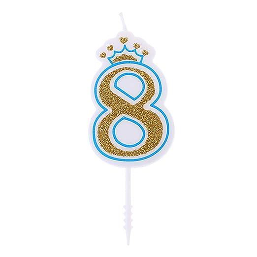 Fewxdsad - Velas de cumpleaños con Corona Brillante para ...