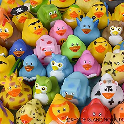 Rhode Island Novelty 2 Inch Cute Rubber Duck Assortment 50 Pieces: Toys & Games