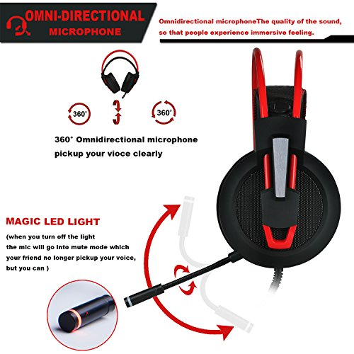 51ZlLFW23lL - PC-Gaming-Headset-with-Mic-Virtual-71-Surround-Stereo-Sound-Headphone-50MM-Loudhailer-Gaming-Headphones-with-LED-Light-Over-Ear-USB-Headsets-for-PC-Mac-Laptop-Gamer