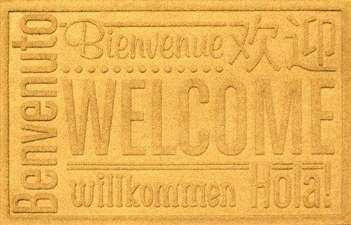 e Welcome Mat, 2 by 3-Feet, Yellow (Yellow Worldwide Ship)