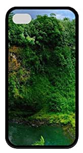 Beautiful Green Forest TPU Black Case for iphone 4S/4 Kimberly Kurzendoerfer