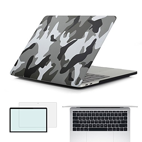 RYGOU 3 in 1 Hard Case Keyboard Cover Screen Shell for Newest MacBook Pro 13 Inch Without Touch Bar Model:A1708 (Released in Oct - Pro Macbook Case 13 Retina Camo