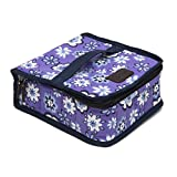young living containers - 42-Bottle Essential Oil Carrying Case (5ml,10ml,15ml) for doTERRA, Young Living Bottles for Aromatherapy Travel or Storage (Lavender)