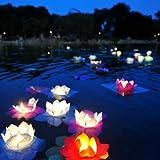 EWIN(R) 20PCS Mix Color Flower Lotus Chinese Lanterns Wishing Floating Water Light Paper