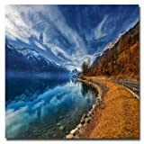 Trademark Fine Art Road to No Regret by Philippe Sainte-Laudy Canvas Wall Art, 35x35-Inch