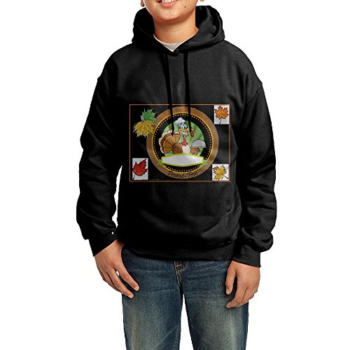 (Thanksgiving Peanut Free Placemat Youth Cotton Hooded Sweatshirt SizeXL)