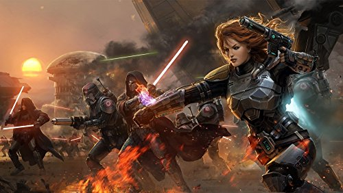 Star wars the old republic Game Poster family silk wall print 43 inch x 24 inch
