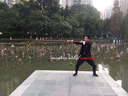Wing Chunロング極LUK Dim Boon Kwan中国武術Dragon poles-merbau