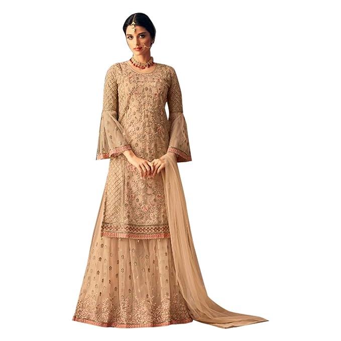 Amazon.com: Hermoso saco de Sharara para novia, boda ...