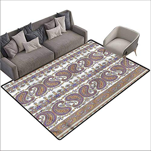 - Dining Table Rugs Paisley,Tribal Oriental Pattern Art 64