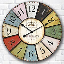 Creative clock Surface waterproof damp-proof/indoor wall clock/digital creative/diameter of the circular wall charts 30/34/40/50/60cm,B,12 inch