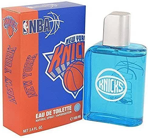 Nba knicks cologne by air val international edt spray (metal case) 3.4 oz for men
