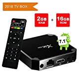 quad core android fully loaded - Android TV Box 7.1.2, Smart X96 Mini 2GB Ram 16GB with Amlogic S905w Quad Core 2.4G Wifi 4K HD Support,IR Remote