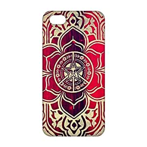 Cool-benz peace and justice obey Red star flowers 3D Phone Case For Iphone 6 Plus 5.5 Inch Cover