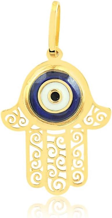 Greek Eye Evil Eye 18k Solid Gold Pendant for Necklace for Girls and Women