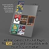Rayvol 9-Pocket 720 Card Binder for Pokemon