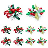 Kuntrona 10pcs/lot Dog Hair Bows Christmas Pet Dogs Hair Bows Rubber Bandsr Cat Puppy Grooming Bow Small Pet Accessories Mixed Color 1lot