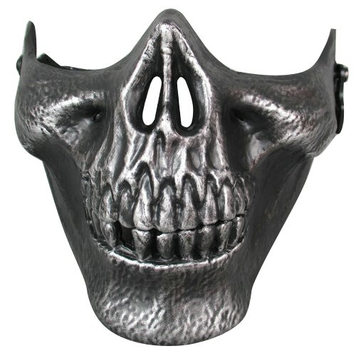 Amazon.com : Topro Skull Skeleton Airsoft Paintball Half Face Game Protect Mask Color Black : Sports & Outdoors