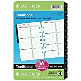 Day-Timer Refill 2019, Two Page per Week, January 2019 - December 2019, 5-1/2'' x 8-1/2'', Loose Leaf, Desk Size, Classic (91010)