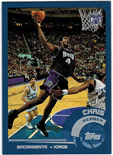 (2002-03 Topps Sacramento Kings Team Set with Chris Webber & Peja Stojakovic - 7 NBA Cards)