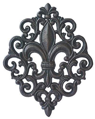 Fleur De Lis Decorations (Lulu Decor, Cast Iron Fleur De Lis Decoration Plaque (Plaque))