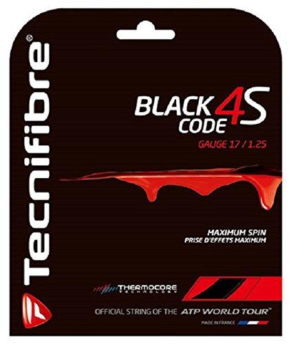 Black Tennis String 17g (Tecnifibre Black Code 4S Tennis String (17G))