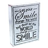 """inspiring kitchen accent wall Barnyard Designs Let Your Smile Change The World Galvanized Metal Box Wall Art Sign, Primitive Country Farmhouse Home Decor Sign with Sayings 8"""" x 6"""""""