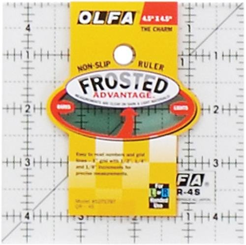 OLFA 1071797 QR-4S 4-1/2-Inch Square Frosted Advantage Acrylic (Frosted Advantage Acrylic Ruler)