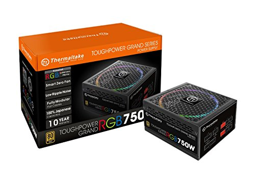 Thermaltake Toughpower Grand RGB 750W Smart Zero Fan 80 Plus Gold 10 Year Warranty Full Modular Power Supply(TPG-0750F-R…